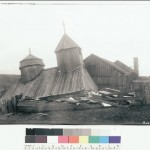 4/13/2006: Fort Ross, Sonoma County: The chapel built in 1825 came crashing down, though the roof remained intact. (Press Democrat file)
