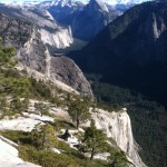 A view of Half Dome from the trail. (Matt Brown/ The Press Democrat)