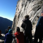 Hikers watch the historic ascent from the trail. (Matt Brown/ The Press Democrat)